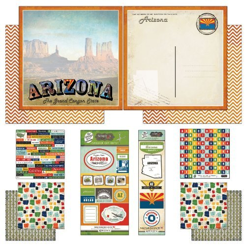 Scrapbook Customs Themed Paper and Stickers Scrapbook Kit, Arizona Vintage by Scrapbook Customs