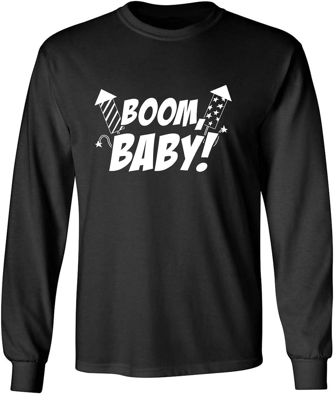 zerogravitee Boom, Baby! Adult Long Sleeve T-Shirt