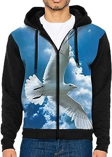 Mens Pullover Hood Blue Sky White Cloud Zip Hoodies Hooded Fashion Jackets Coats