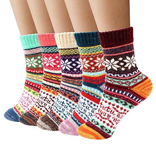 Airabc Calcetines para Mujer, Calcetines de Invierno para Mujer Calcetines Térmicos de Lana para Mujer, Calcetines Cómodos Casuales para Actividades al Aire Libre e Interiores