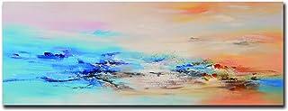 Fajerminart Cuadro En Lienzo - Nubes Colores Cuadros Abstractos Impresiones sobre Lienzo, Lienzos Decorativos Adecuado para Cuadros Dormitorios, Cuadros Decoracion Salon Modernos 50x150cm(Sin Marco)