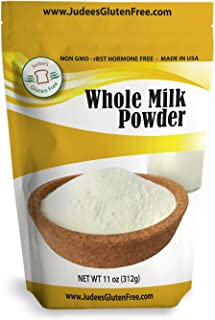 Judee's Whole Milk Powder (11 Oz): Non-GMO, Hormone Free USA Produced (Non-Fat Also Available)