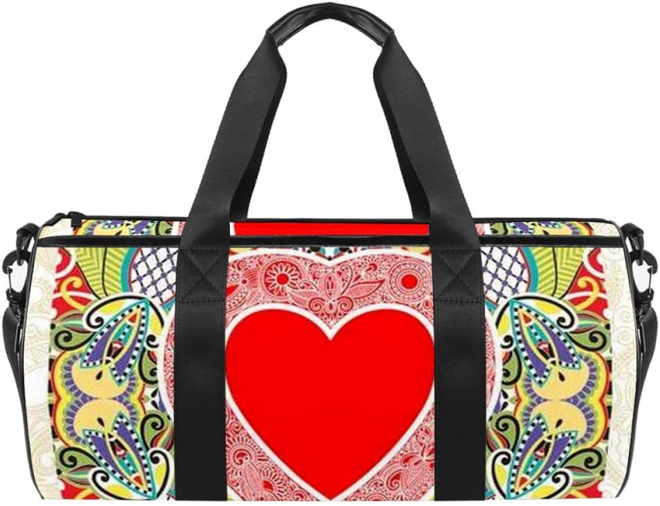 Anna Cowper Valentin Day Heart Carry Shoulder Canvas Bag store Duffel Selling