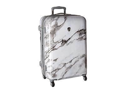 Heys America Carrara Marble 26 Spinner (White) Luggage