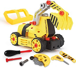M&J 7-in-1 DIY Take Apart Truck Car Toys for 3 4 5 6 7 Year Old Boys Girls, Construction EngineeRing STEM Learning Toys Bu...