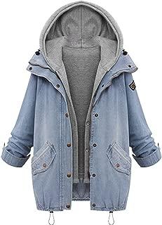 Girl Denim Jacket Hooded Bomber Jacket Boyfriend Coat Gilet Cool Outwear Outerwear