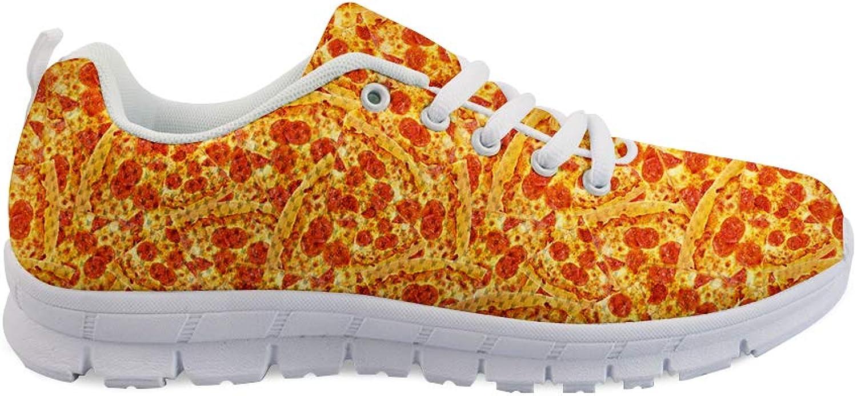 Owaheson Lace-up Sneaker Training shoes Mens Womens Pork Chops Steak Pizza