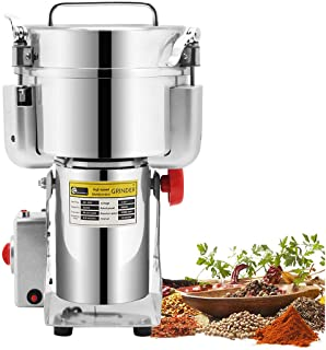 CGOLDENWALL 1000g Stainless Steel Electric Grain Grinder Mill for Grinding Various Grains Spice Grain Mill Herb Grinder Pulverizer Powder Machine 110V Gift for mom, wife