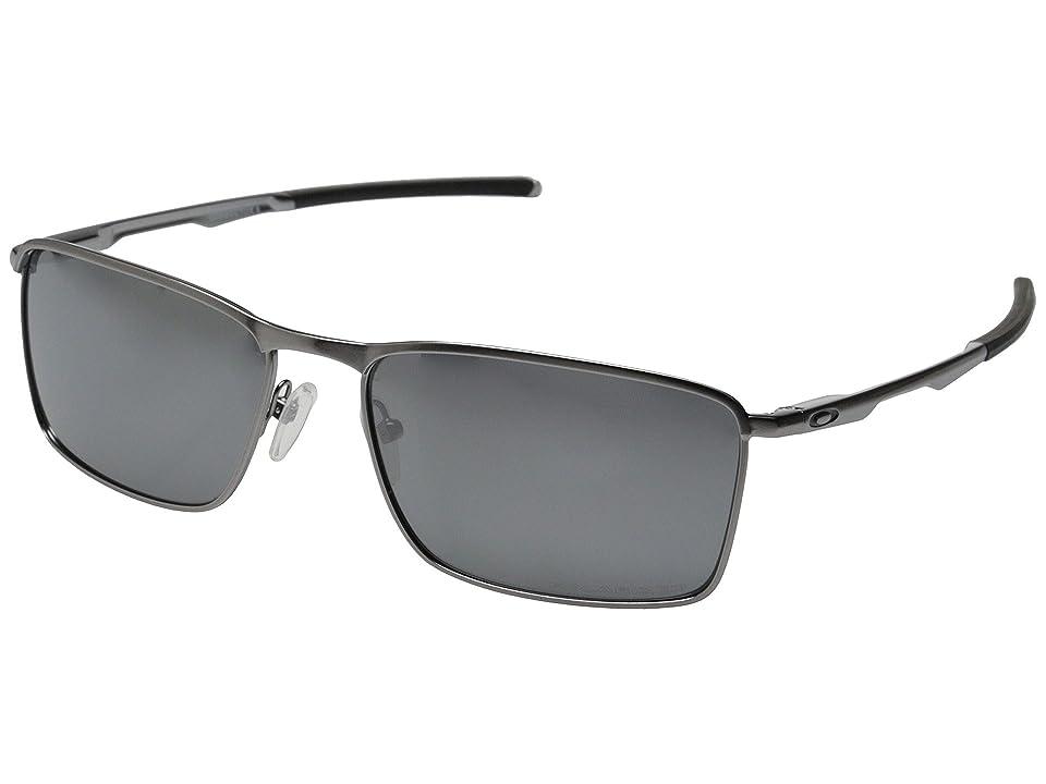 Oakley Conductor 6 (Lead w/Black Iridium Polarized) Sport Sunglasses