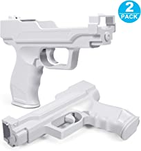 Motion Plus Gun Compatible with Nintendo Wii Controller + Wii Shooting Games (White,Set of 2) photo