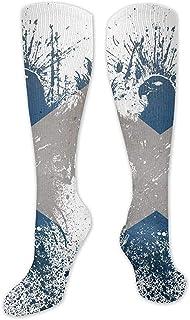 Tonesum, Calcetines con estampado de la bandera de Eagle Scotland Calcetines cálidos sobre botas Calcetines deportivos frescos y cálidos 50CM