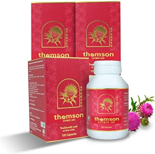3 Bottles Livrin Milk Thistle 120 capsules/300mg│Contain 80% High Potency Silymarin Extract with Silybin Highly Absorption
