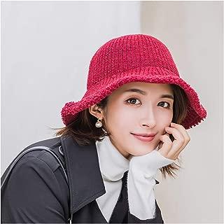 Women Knitted Bucket Hat Beanie Cap Warm Wool Hat Simple Basin Caps Women Hats Knitted Beanies Caps