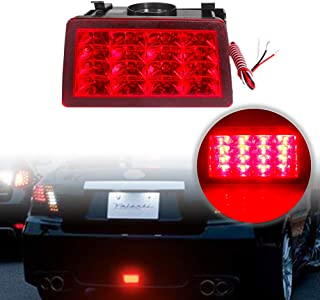 PGONE F1 Style Smoked Lens Red LED Rear Fog Lights Brake Lights Tail Lights For Subaru WRX STi XV Impreza or VX Crosstrek with Wire Harness and Mounting Bracket (Red Lens)