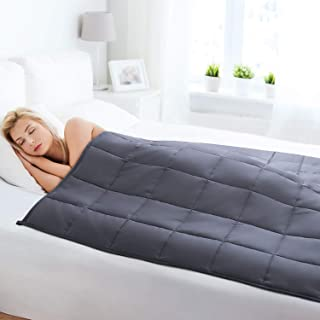 """BedStory Weighted Blanket 20lbs for Adults (60"""" x 80"""", Queen King Size), Heavy Blankets with Premium Glass Beads & 100% Breathable Cotton"""