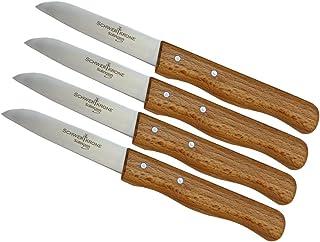 Solingen Set de couteaux à légumes avec manche en bois, lame très tranchante, fabriqué en Allemagne, inoxydable, passe au ...