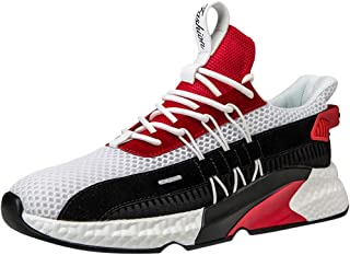 Men's Woven Breathable Platform Tennis Basketball Football Sneakers Running Rock Climbing Outdoor Social Friends Party Mesh Casual Fitness Relaxing Running Shoes