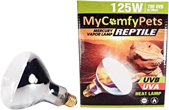 MyComfyPets UVB and UVA 2-in-1 Reptile Bulb 125W for Bearded Dragons and All Reptiles