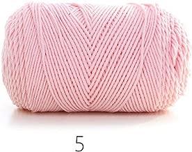 Ovillo de lana de algodón suave y gruesa para tejer a mano, 100 g, color liso/arcoíris, 05, the size, 1
