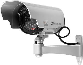 Ballylelly Energía solar LED Cámara CCTV Cámara de seguridad falsa Vigilancia simulada al aire libre