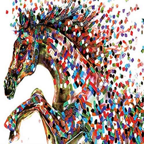 Kit de pintura de diamante de caballo salto para niños adultos DIY 5D redondo taladro completo arte relajación regalo para decoración de la pared del hogar