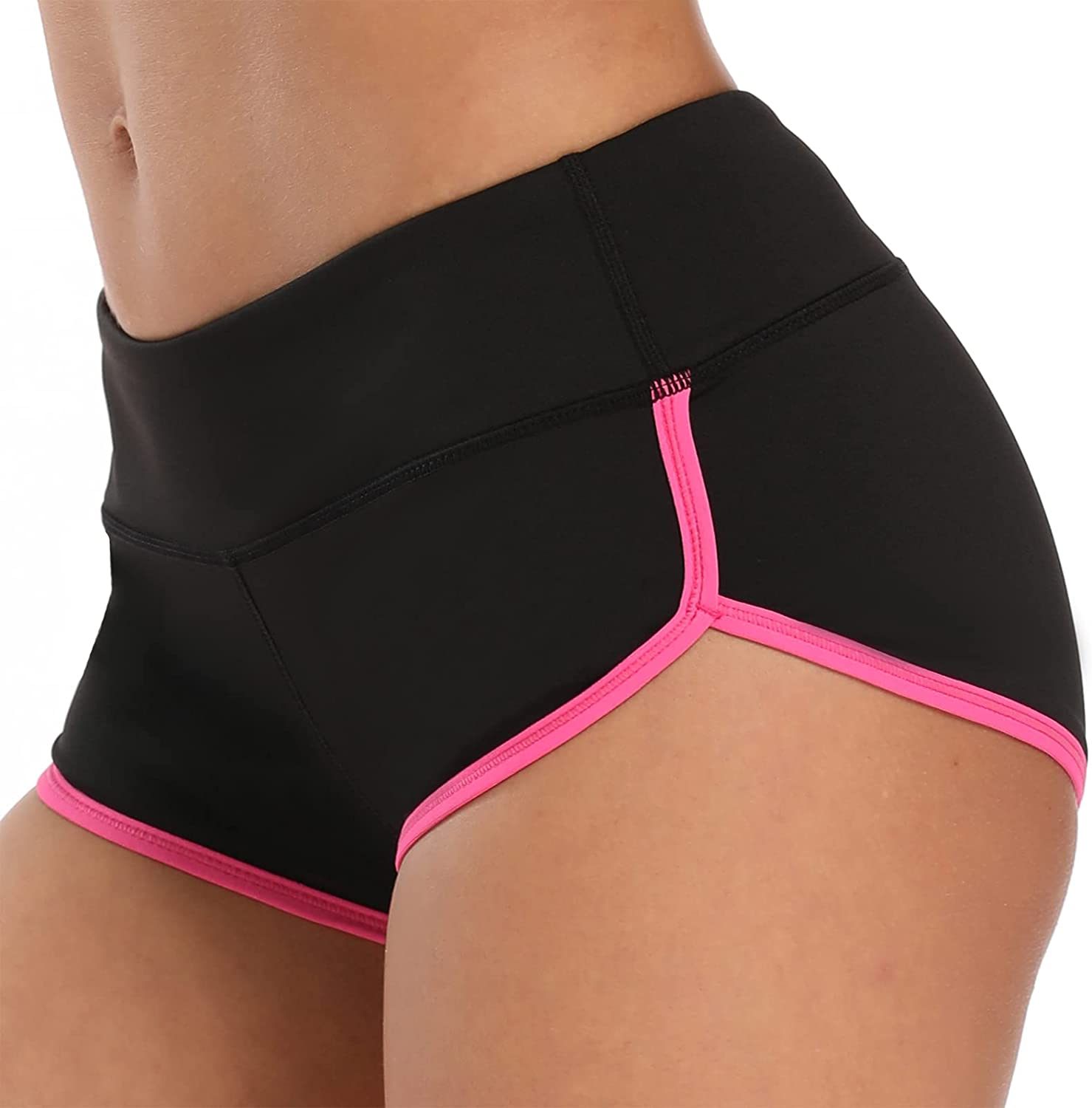 Womens Workout Shorts Hot Yoga Running Athletic Pole Dance Booty Dolphin Shorts