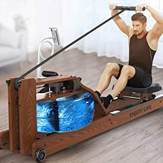 Water Rowing Machine, Waterrower Rowing Machine for Home, Realistic Rowing Feel, User Weight Up To 250 Kg, with Mobile Pho...