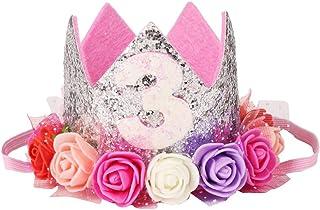 VPbao Kids Princess Headwear Birthday Rose Elastic Headband Hair Accessories