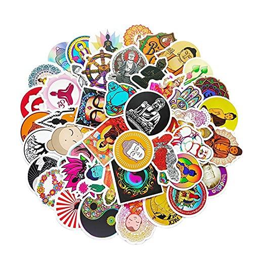 Buddha Stickers, 100PCs, Namaste Buddhism Religion Waterproof Vinyl Sticker Decals, for Laptop, Waterbottle, Phone, Skateboard, Guitar, Helmet, DIY Gifts for Kids, Girls, Teens (Buddha)