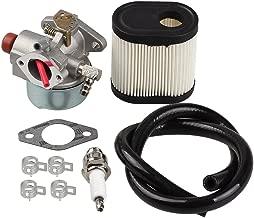 Hipa 640350 Carburetor + 36905 Air Filter for Toro 20016 20017 20018 6.75HP Recycler Lawn Mower Tecumseh 640303 640271 LEV100 LEV105 LEV120 LV195EA / LV195XA Engine
