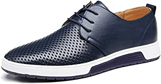 JACKY'S 2018 Men and Women Casual Shoes Leather Summer Breathable Holes Luxury Brand Flat Unisex Shoe