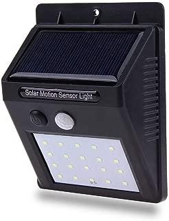 Luminaria Lampada 20 Leds Solar Sensor Parede Energia 12 horas Noite