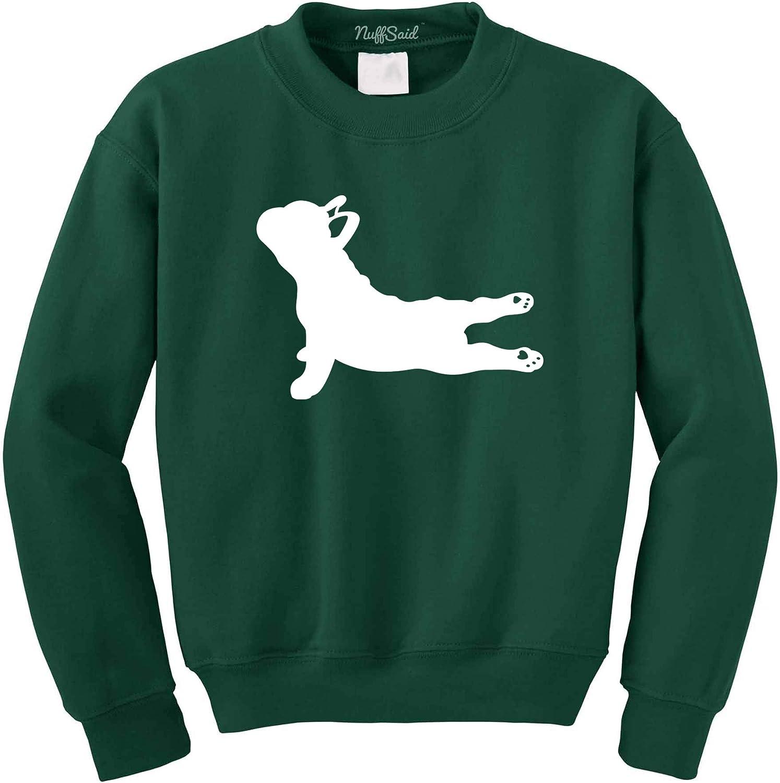 NuffSaid Yoga French Max 82% Bombing free shipping OFF Bulldog - Pullover Crewneck Sweatshirt Un