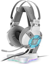 Fantech USB RGB Gaming Headset and Stand Combo for PC, 7.1 Surround Sound 50mm Drive DTS Digital Over Ear Wired Headphones...