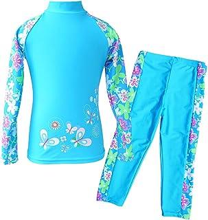 TFJH E Girls Swimsuit Two Piece Swimwear 3-12 Years UPF...