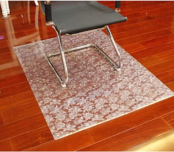 PVC Rug Chair Mat Hardwood Floor Clear Scratch Resistant Floor Protector For Low Pile Carpet Computer Office Chair Floor Mat 40x60cm 16x24inch Flower1 5mm
