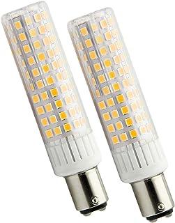 ZIBEI Bombilla LED 90-265V B15D 10.5W equivalente Lámpara halógena B15D de 100W, 1250 lúmenes, ángulo de haz de 360°,Blanco Cálido 3000K,No Regulable (qaquete de 2)[Clase de energía A+]