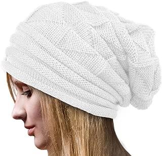 Slouch Beanie, Forthery Women Winter Ski Wool Baggy Hat Skull Beanie Toboggan Knit Hat/Cap