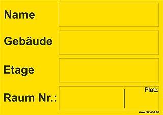 40x Umzugetiketten Nr.5, 105x74, Beschriftung mit Etiketten vom Umzugskarton für den Umzug, Umzugsetiketten, Gelb