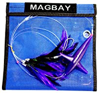 MagBay Lures Tuna Feather Daisy Chain with Bird Teaser - Purple & Black