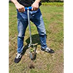 CHUMAA Bulb Planter, Weeder, Sod Plugger, Flower Planting, Soil Sampler-5-IN-1 Lawn Tool and Garden Tool - Enhanced… 14 SIMPLE AND EASY TO USE –To use, drive the Long-Handled Bulb Planter into the soil and turn clock-wise and counter-clockwise a few times to loosen up the dirt, then pull up. Dig 3.5inch diameter planting holes quickly, one after another, from a comfortable standing position. Avoid digging in dry or overly saturated soil. MULTI-USE GARDEN TOOL –Plant your garden favorites. Spring and fall bulbs, annuals, ground covers, vegetables and more. Makes a great lawn and sod plugger, weeding tool, soil sample tool and drip-edge fertilizing tool. TAKE THE PAIN OUT OF PLANTING –5-IN-1 Planting Tool allows you to work from a standing position, saving your back and knees. Comfortable, sturdy hand grips are helpful for seniors or those with mild arthritis.