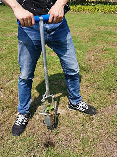 CHUMAA Bulb Planter, Weeder, Sod Plugger, Flower Planting, Soil Sampler-5-IN-1 Lawn Tool and Garden Tool - Enhanced… 4 SIMPLE AND EASY TO USE –To use, drive the Long-Handled Bulb Planter into the soil and turn clock-wise and counter-clockwise a few times to loosen up the dirt, then pull up. Dig 3.5inch diameter planting holes quickly, one after another, from a comfortable standing position. Avoid digging in dry or overly saturated soil. MULTI-USE GARDEN TOOL –Plant your garden favorites. Spring and fall bulbs, annuals, ground covers, vegetables and more. Makes a great lawn and sod plugger, weeding tool, soil sample tool and drip-edge fertilizing tool. TAKE THE PAIN OUT OF PLANTING –5-IN-1 Planting Tool allows you to work from a standing position, saving your back and knees. Comfortable, sturdy hand grips are helpful for seniors or those with mild arthritis.