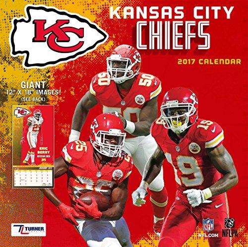 "Turner Licensing Sport 2017 Kansas City Chiefs Team Wall Calendar, 12""X12"" (17998011914)"