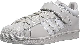 adidas Originals Men's PRO Shell Running Shoe, Grey/White/Silver Metallic, 16 M US