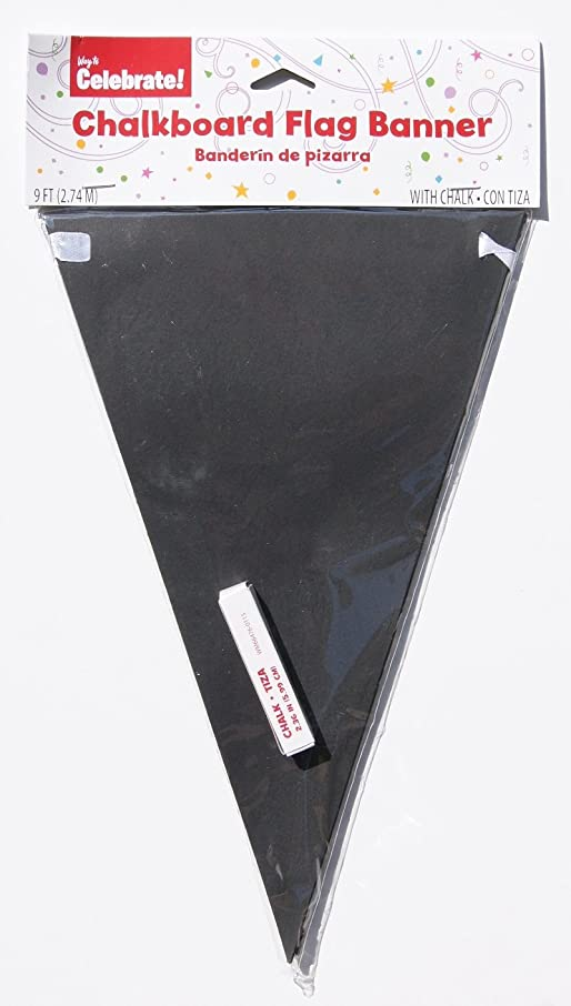 Decorative Chalkboard Paper Pennant Flag Banner Kit (9 ft. long)