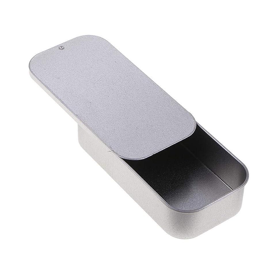 SM SunniMix 空き缶 ブリキ缶 収納ケース 鉄ボックス 長方形 スライドトップのデザイン ブリキ製