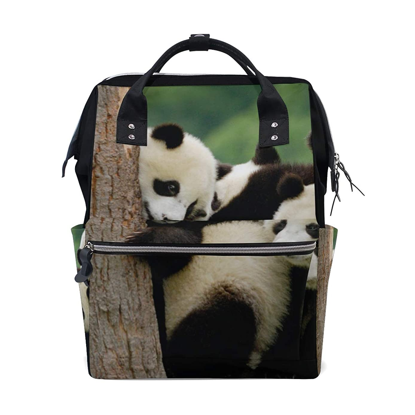Cute Panda Family School Backpack Large Capacity Mummy Bags Laptop Handbag Casual Travel Rucksack Satchel For Women Men Adult Teen Children