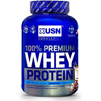 USN 100 Percent Whey Protein Chocolate 2.28 kg: Muscle Building and Recovery Whey Isolate Protein Powder