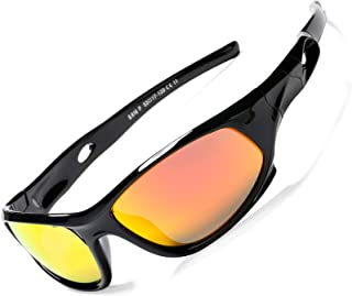 Rubber Polarized Sunglasses for Kids TR90 Unbreakable Sport Shade Children Boys Girls Age 3-12 Years