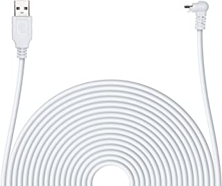 POPMAS Arlo Pro Charging Cable Weather Resistance Indoor/Outdoor Quick Charge,20 Ft Extra Long 45mm Thickness Cable for Arlo Pro, Arlo Pro 2 Home Security Camera White